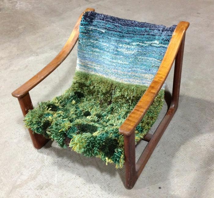designer teppich indoor garten natur look sessel wiese