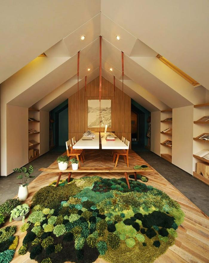 designer teppich indoor garten natur look wiese wald teppichboden teppichläufer