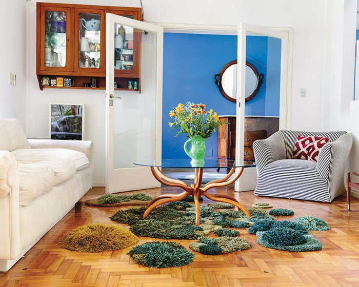 designer teppich indoor garten natur moos teppichläufer bettvorleger