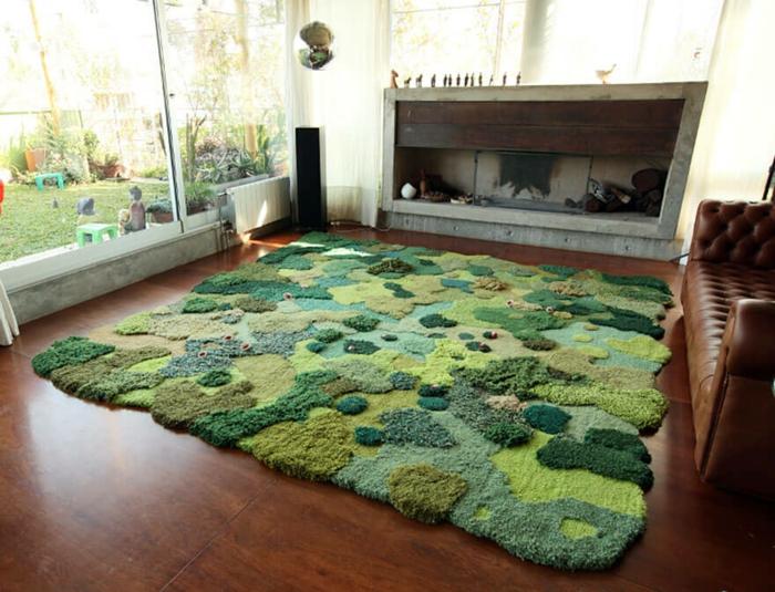 designer teppich indoor garten naturlandschaft look teppichboden teppichläufer