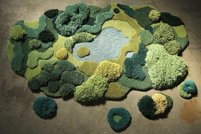 designer teppich indoor garten park naturlandschaft teppichläufer teppichboden