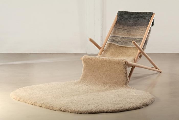 designer teppich natur look sessel strand liege