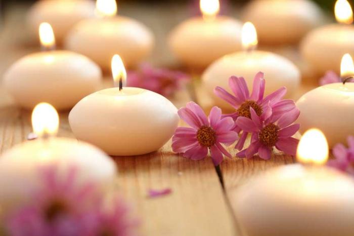 detox kur gesund abnehmen entspannung ruhe balance kerzen blumen