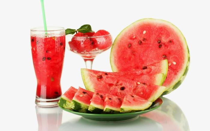 detox kur gesund abnehmen wassermelone frisch gepresst diät gesunde ernährung