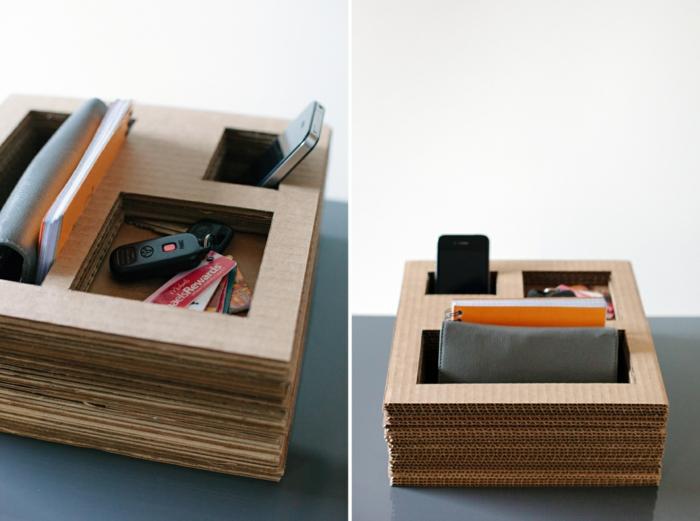 originelle diy deko 5 einfache bastelideen aus karton. Black Bedroom Furniture Sets. Home Design Ideas