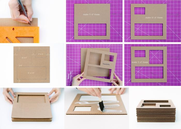 diy deko dekoideen karton fächer selber machen