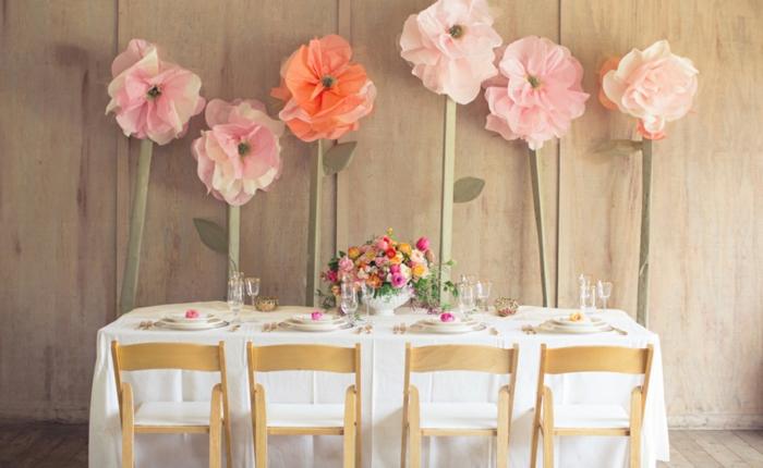 Oversized Flowers Wedding Decor