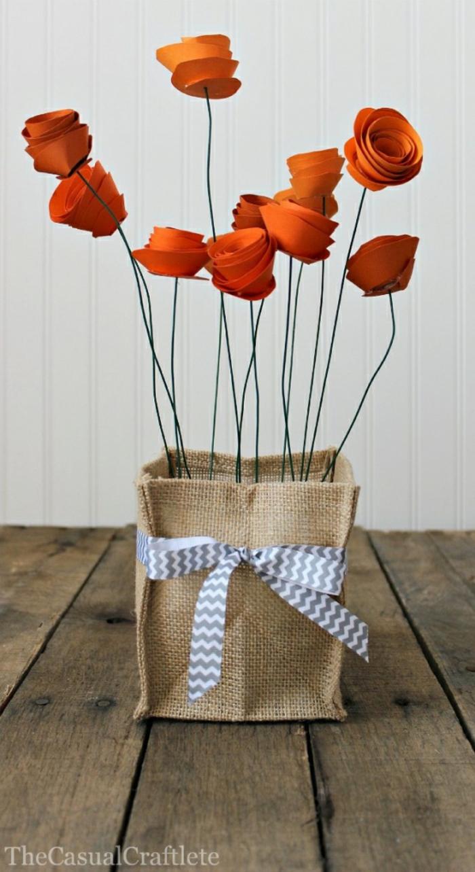 diy deko dekoideen kunstblumen selber basteln draht papier