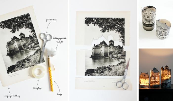 diy deko dekoideen romantische windlichter selber basteln alte fotos