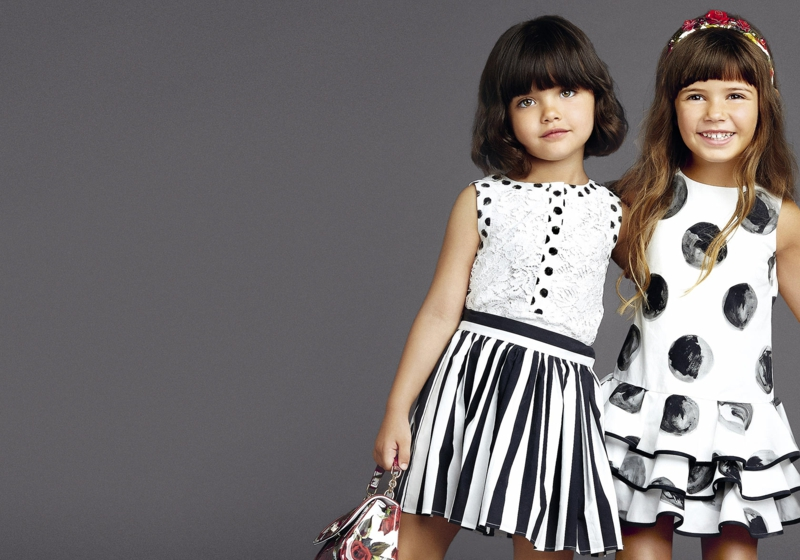 dolce and gabbana Kindermode schwarz weiß Prints