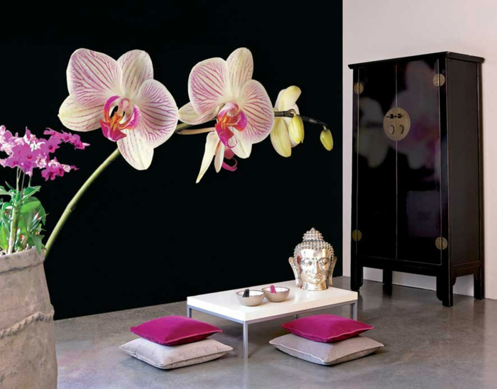 einrichtungsbeispiele raumgestaltung wohnflair asien wohnung einrichten einrichtungsbeispiele asian china orchideen
