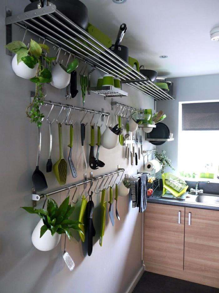 einrichtungsideen küche geschirr wand kleine küche ideen