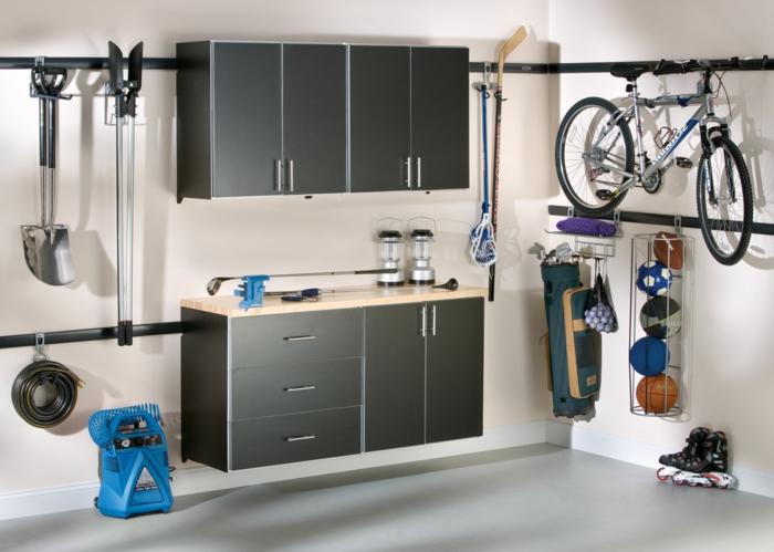 einrichtungsideen kreative wohnideen garage stauraum