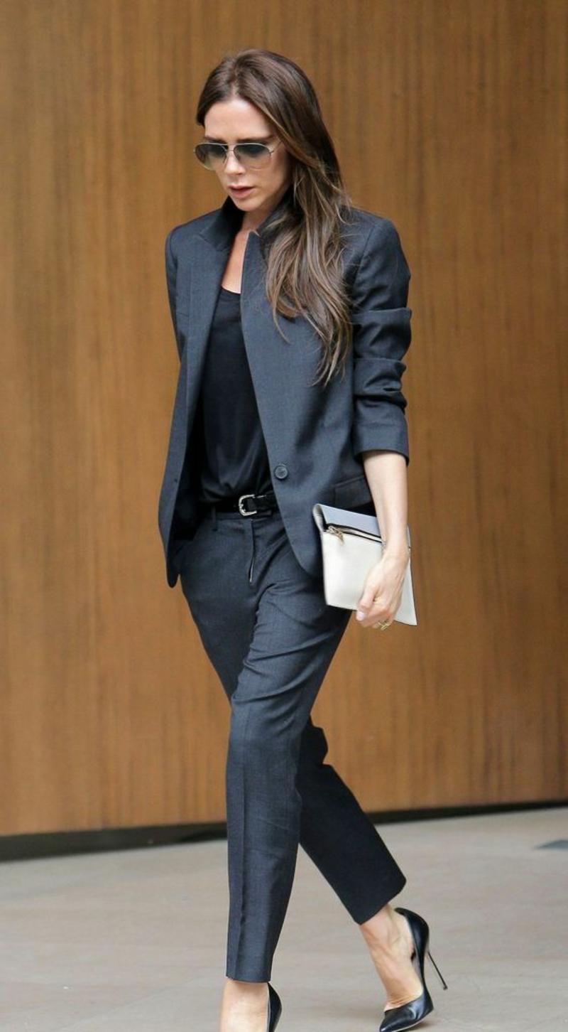 elegante Bussinessmode Damen Sakko Damenmode Victoria Beckham