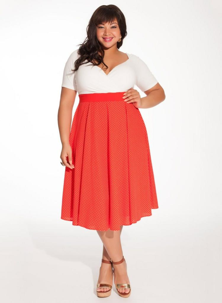 elegante Kleider große Größen Retro Kleid