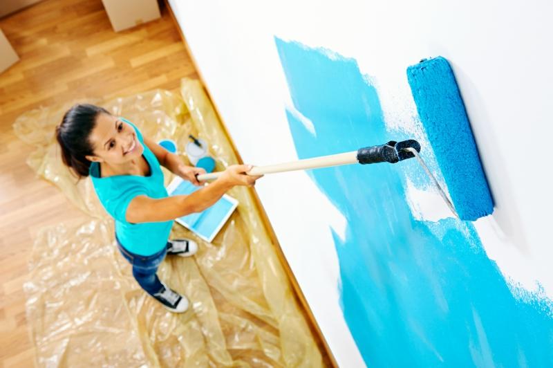 entspannende Wandfarben Ideen blaue Wände streichen Farbideen