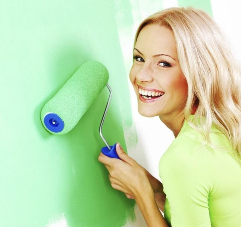 entspannende Wandfarben Ideen grüne Wände gestalten