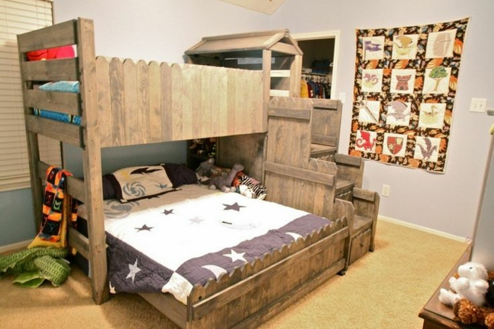 europaletten bett 45 alternativen f r das kinderzimmer. Black Bedroom Furniture Sets. Home Design Ideas