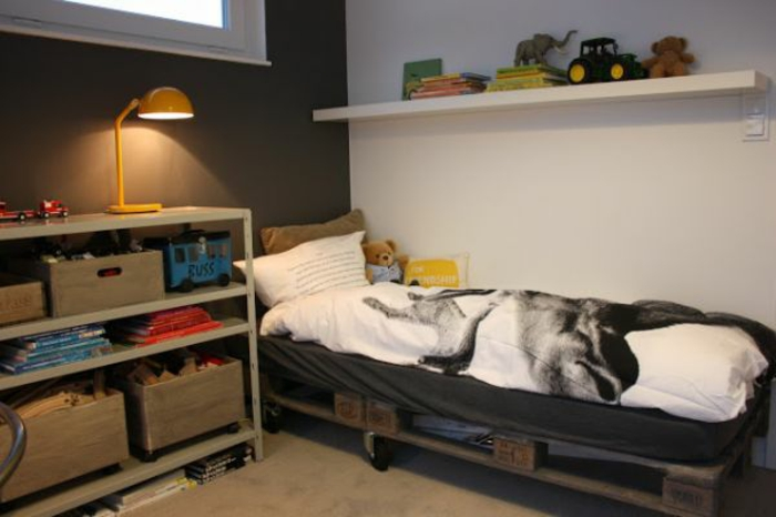 Europaletten bett 45 alternativen f r das kinderzimmer - Turnen kinderzimmer ...