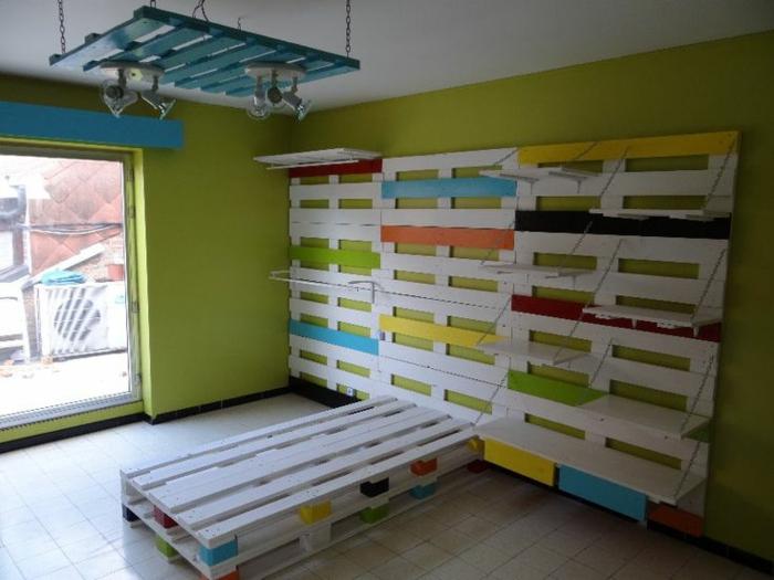 europaletten bett möbel kinderzimmer komplett aus paletten