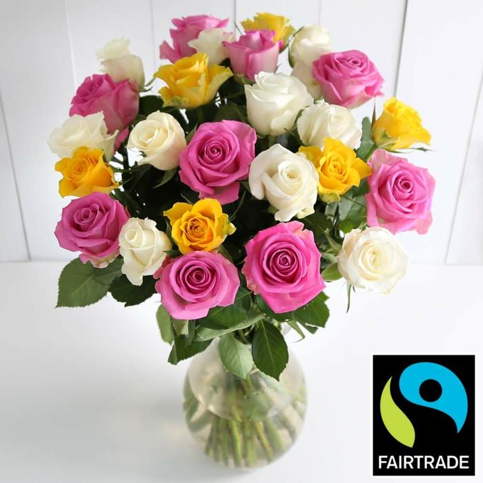 fairtrade produkte einkaufen fair gehandelte rosen flo siegel