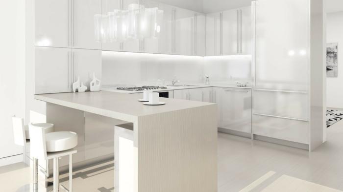 wohntrends farbe weiß küche einrichten ideen