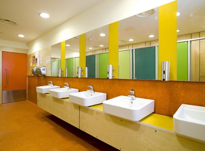farbgestaltung flur wandgestaltung wanddesign farbwirkung wc