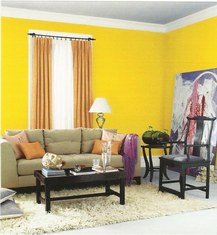 farbgestaltung küche gelbe küche einbauküche gelb