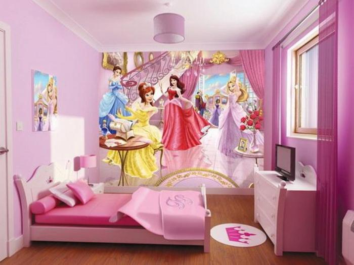 farbgestaltung-kinderzimmer-wandgestaltung-wanddesign-rosa