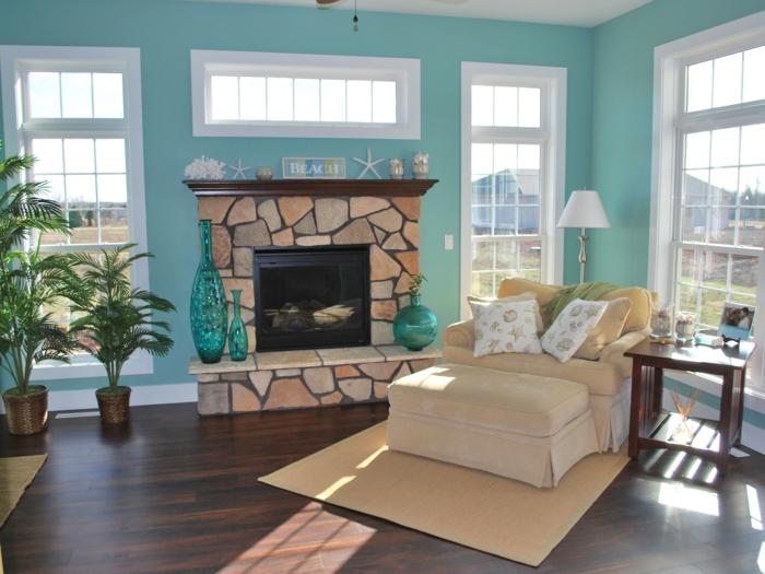wohnzimmer farbgestaltung rot : Bei diesem Ensemble aus grünen Tönen ...