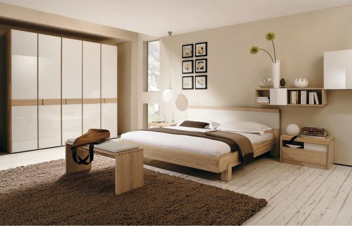 farbgestaltung schlafzimmer wandgestaltung wanddesign mokka milch