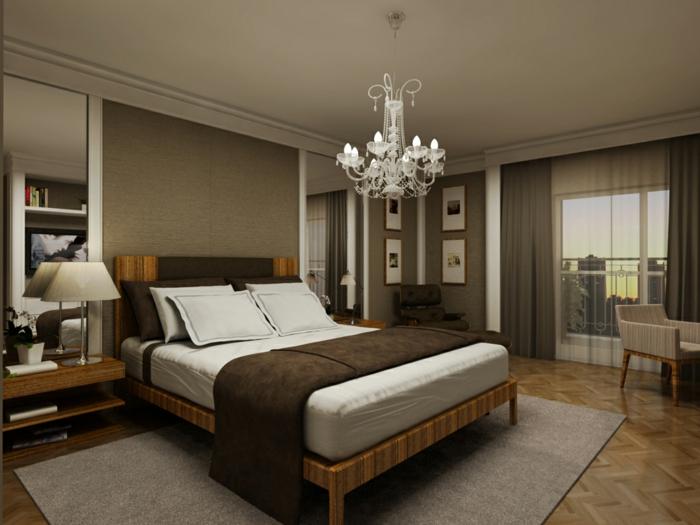 farbgestaltung schlafzimmer wandgestaltung wanddesign samt braun