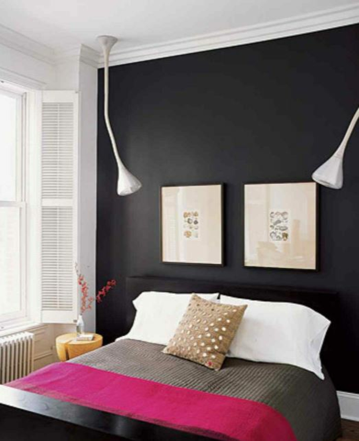 farbgestaltung-schlafzimmer-wandgestaltung-wanddesign-schwarz