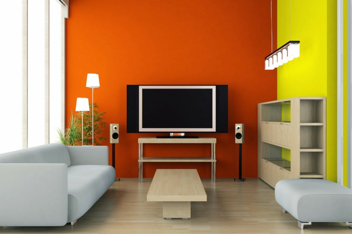 farbgestaltung wohnideen farbkreis panton farbkreis orange gelb