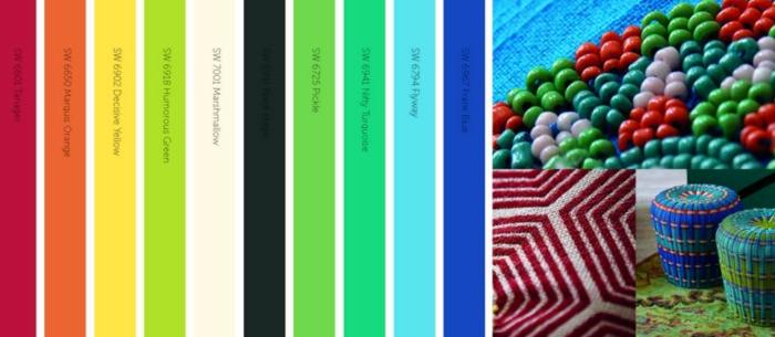 farbgestaltung wohnideen multicolor