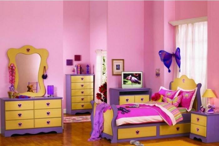 farbgestaltung wohnideen teenage raumgestaltung lila