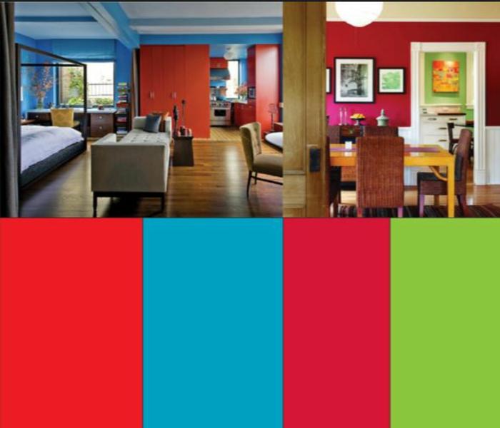 farbgestaltung wohnideen vollton