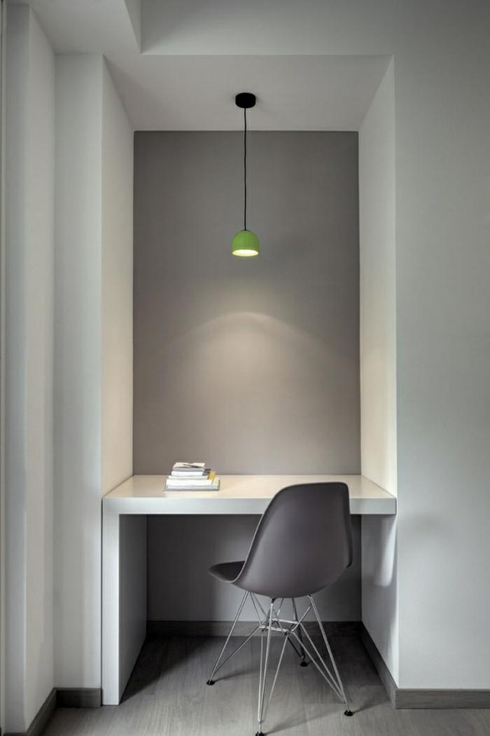 farbgestaltung wohnzimmer wandgestaltung wanddesign büro grau