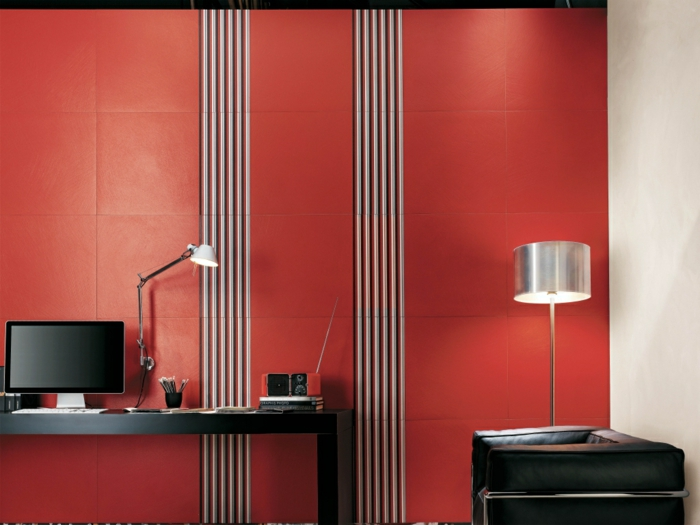 farbgestaltung wohnzimmer wandgestaltung wanddesign büro wand