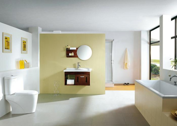 farbgestaltung wohnzimmer wandgestaltung wanddesign badezimmer