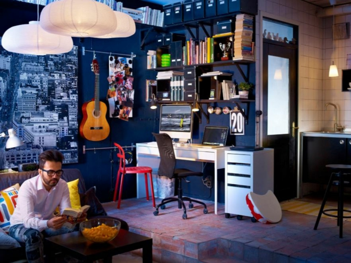 farbgestaltung wohnzimmer wandgestaltung wanddesign blau eigene ruhe