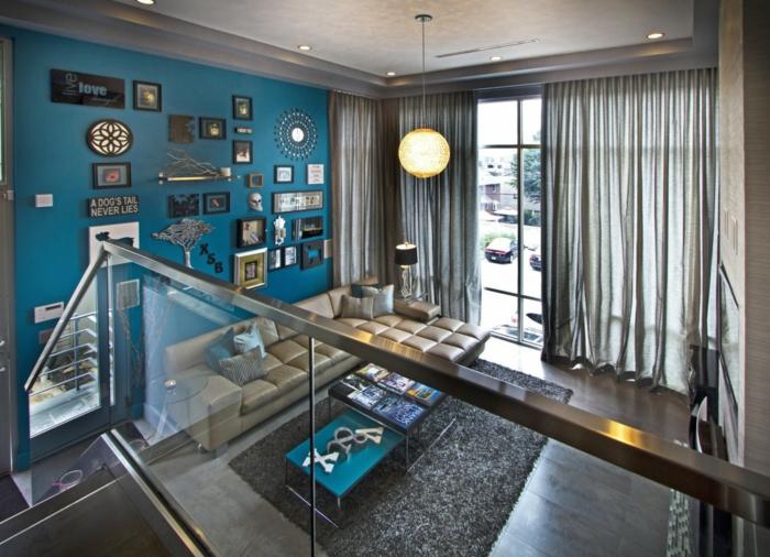 Farbgestaltung Wohnzimmer Blau Die Beste Heimatentwurf Inspiration