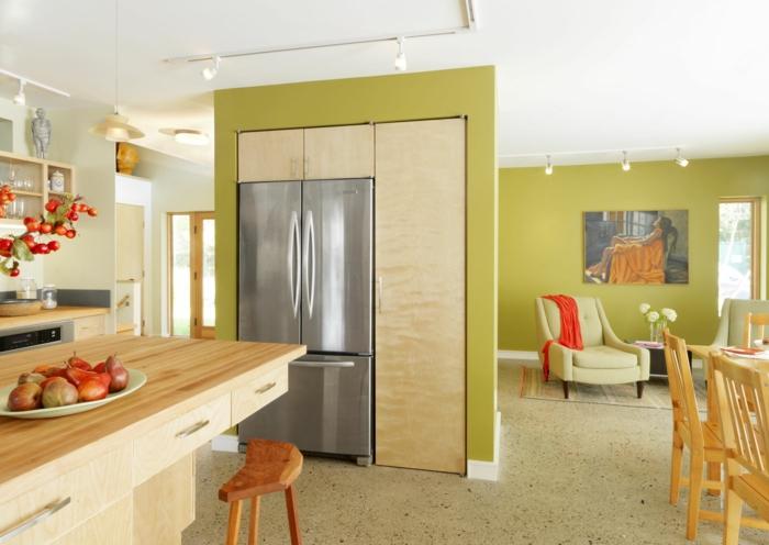 farbgestaltung wohnzimmer wandgestaltung wanddesign olive