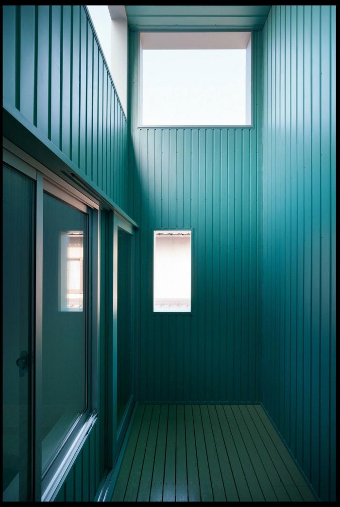 farbgestaltung wohnzimmer wandgestaltung wanddesign petrol blau