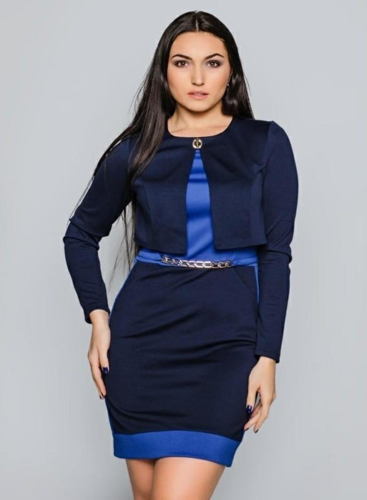 festliche Kleider große Größen blaues Abendkleid große Größen