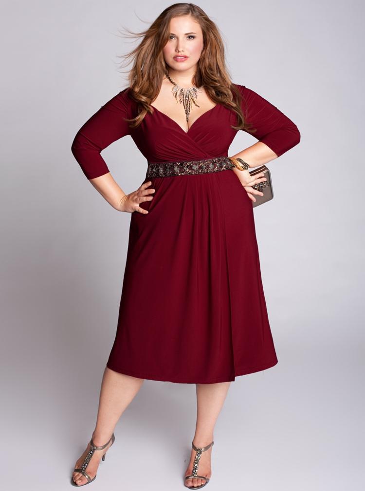 festliche Kleider in großen Größen Abendkleid taillenbetont