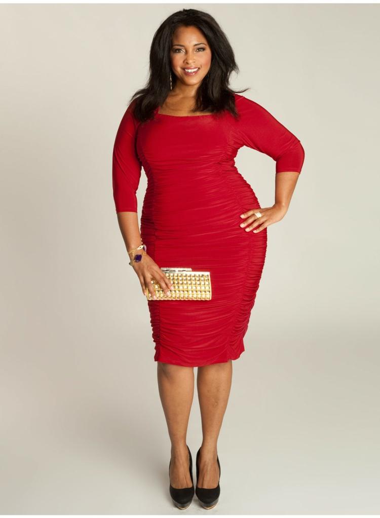 festliche Kleider in großen Größen rotes Abendkleid