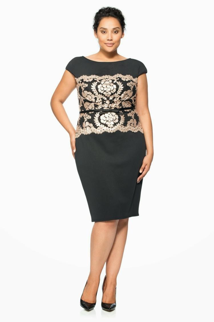 festliche Kleider in großen Größen schwarze Abendkleider