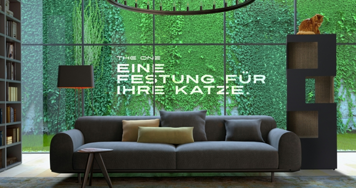 katzenbaum the one cooles design und optimaler komfort. Black Bedroom Furniture Sets. Home Design Ideas