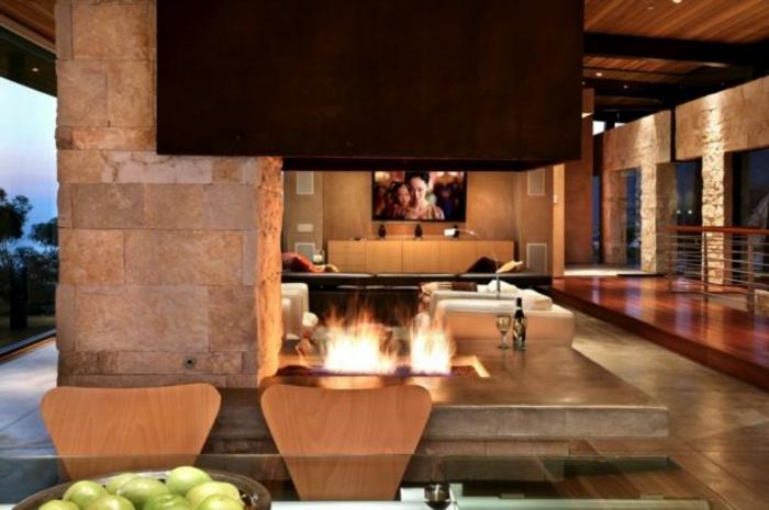 feuerstelle im garten bauen kamin cool luxus suite